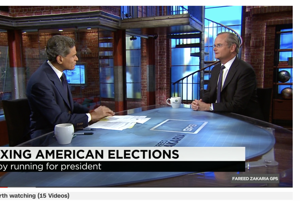 Lessig on how to fix the American election systems